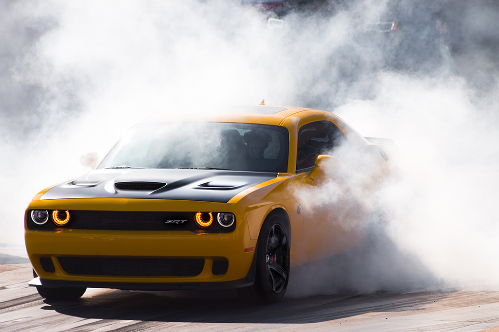 Yellow Dodge Challenger SRT